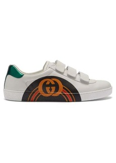 Gucci New Ace GG-print leather trainers