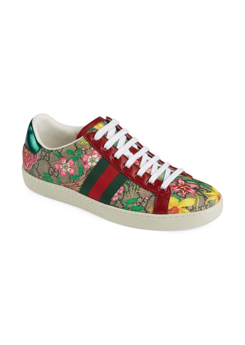 Gucci New Ace GG Supreme Floral Sneaker (Women)