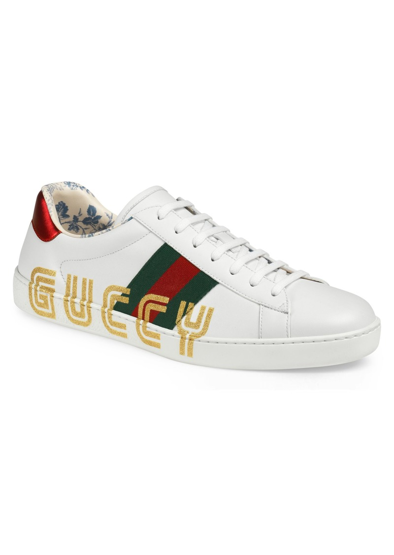 837f80cfad2 Gucci Gucci New Ace Guccy Print Sneaker (Men)