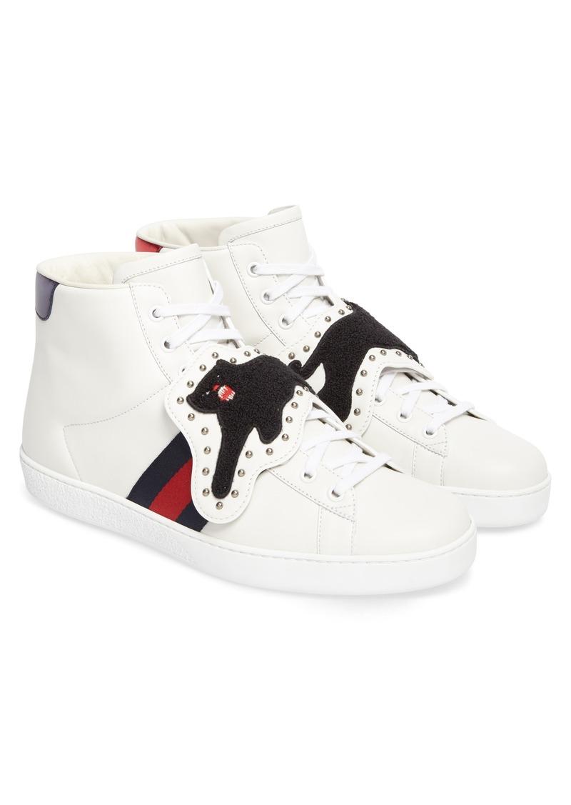 Gucci Gucci Ace Removable Patch Sneaker Men Shoes