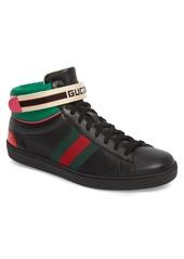 Gucci New Ace Stripe High Top Sneaker (Men)