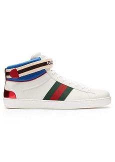 Gucci New Ace high-top leather trainers