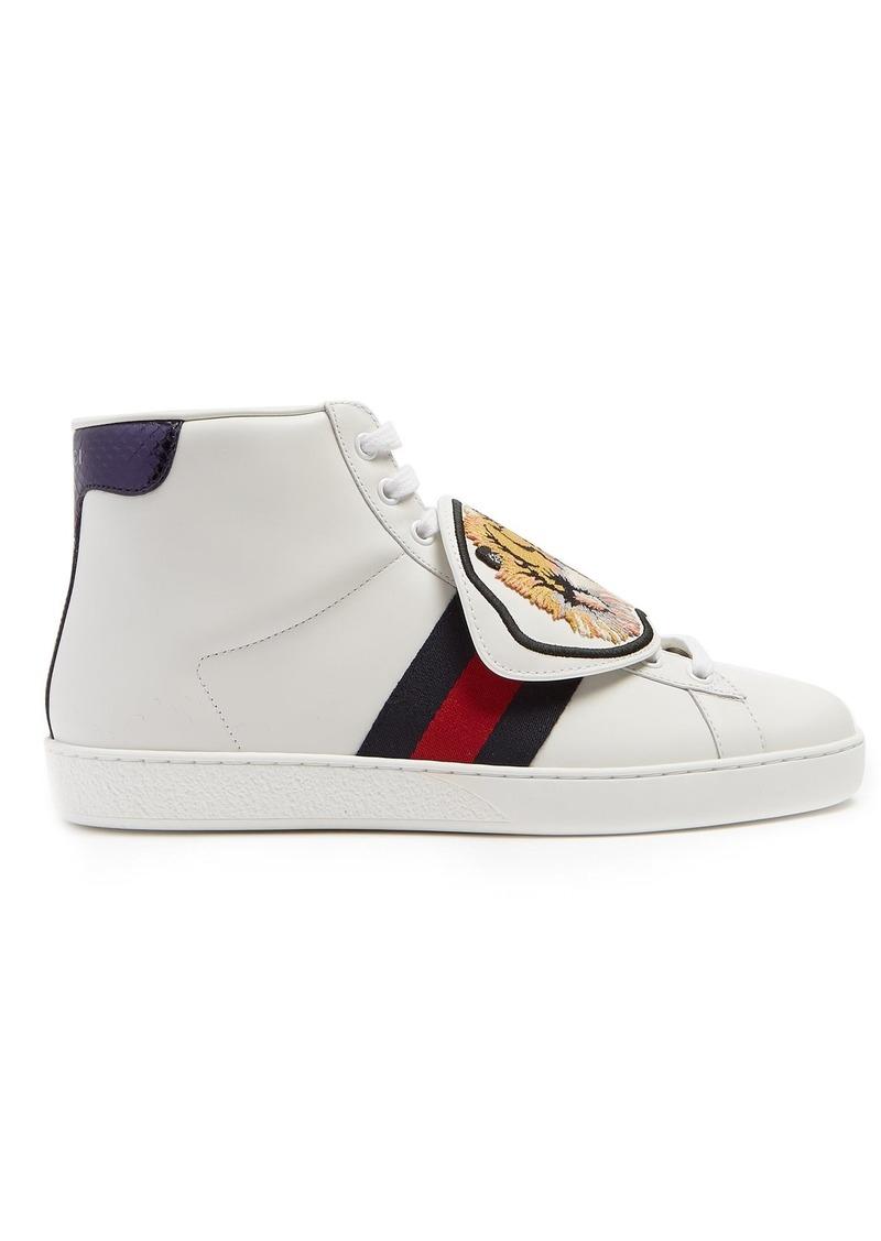 6ea0b56f33e2 Gucci Gucci New Ace high-top leather trainers