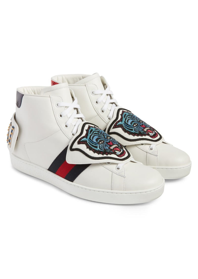 8a04386fa77 New Ace Jaguar Embroidered Patch High Top Sneaker (Men)
