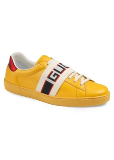 Gucci New Ace Stripe Leather Sneaker (Men)