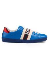 Gucci New Ace Stripe Leather Sneaker (Men)