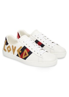 Gucci New Ace Embroidered Sneaker (Men)