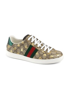 Gucci New Ace Monogram Bee Sneaker (Women)