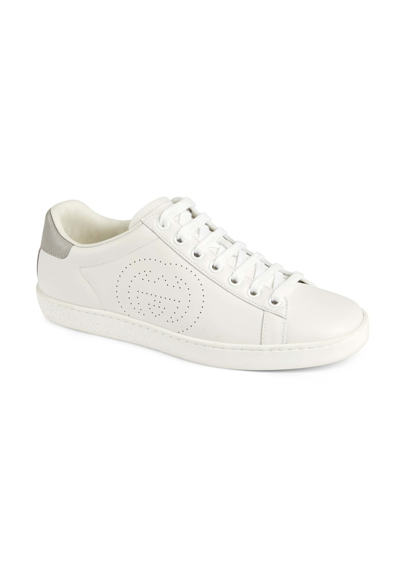 Gucci New Ace Perforated Logo Sneaker (Women)
