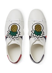 e7bc620a1 ... Gucci New Ace Pineapple Embroidered Patch Low Top Sneaker (Women)
