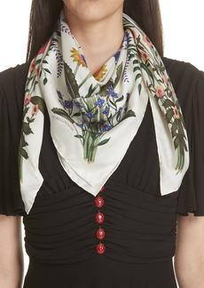 Gucci New Flora Silk Scarf