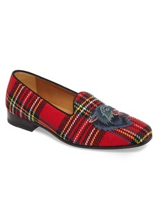 Gucci Wolf Appliqué Tartan Slipper (Men)