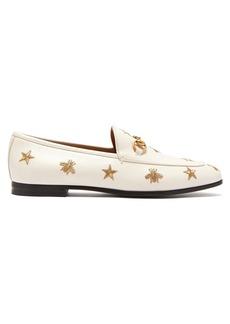 e4564e1c9410 Gucci Gucci Molina lips-embroidered leather sandals