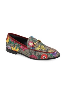 Gucci New Jordaan Floral GG Supreme Loafer (Women)