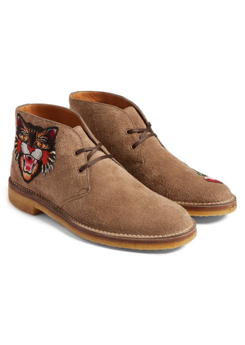 a958192b9 Gucci Gucci New Moreau Embroidered Chukka Boot (Men) | Shoes