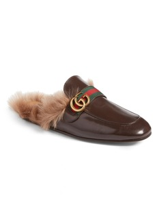 Gucci New Princetown Genuine Shearling Mule (Men)
