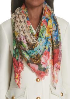 Gucci Night Flowers Modal & Silk Shawl