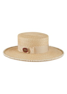 Gucci Notte Embellished Straw Hat