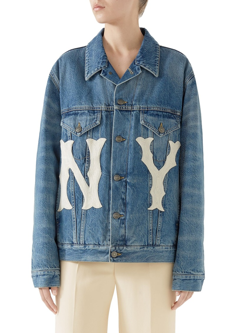 Gucci NY Patch Denim Jacket