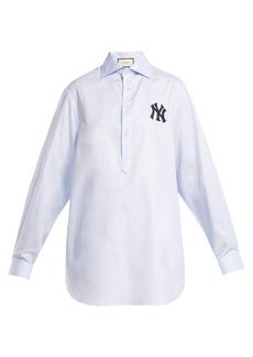 Gucci NY Yankees-appliqué cotton shirt