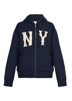 Gucci NY Yankees-appliqué zipped cotton sweatshirt