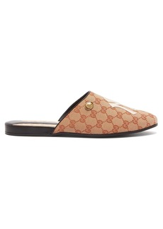Gucci NY Yankees-logo GG-canvas slipper shoes