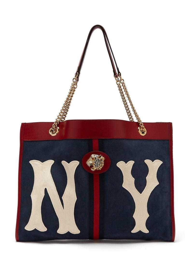 c7bb9a969 Gucci Gucci Rajah NY Yankees patch suede bag | Handbags
