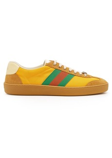 Gucci Nylon and suede Web trainers