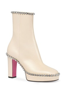 Gucci Olimpia Crystal Embellished Platform Boot (Women)