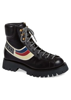Gucci Oliver Sylvie Web Hiking Boot (Men)