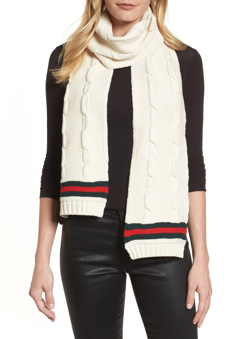 abe9244b03a Gucci Gucci Omelis Cable Knit Scarf