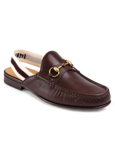 Gucci Horsebit Slingback Loafer Mule (Men)