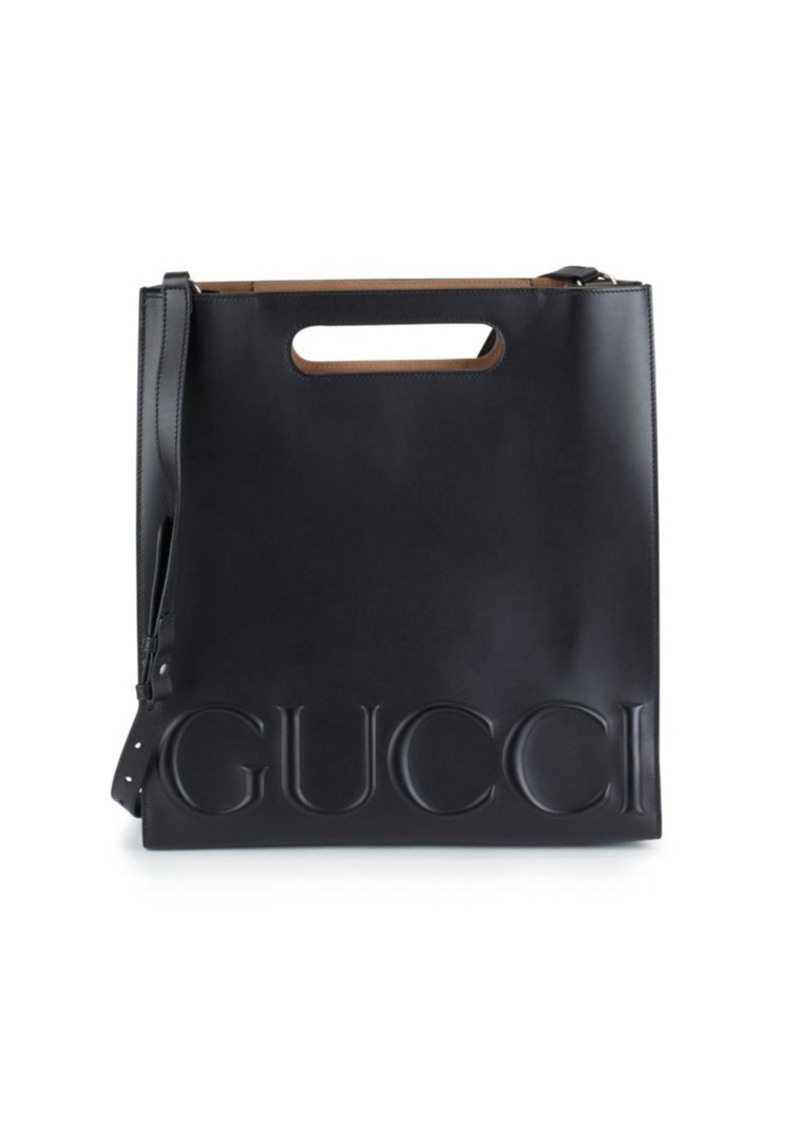 Gucci Open-Top Leather Tote