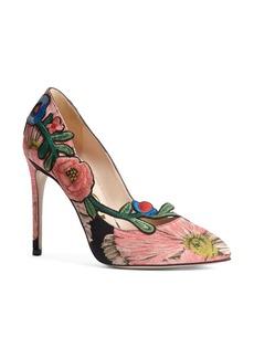 Gucci Ophelia Floral Pump (Women)