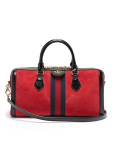 Gucci Ophidia Boston suede bowling bag