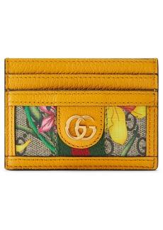 Gucci Ophidia Floral GG Supreme Canvas Card Case