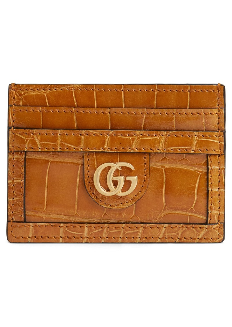 fe2ebee227a3 On Sale today! Gucci Gucci Ophidia Genuine Crocodile Card Case