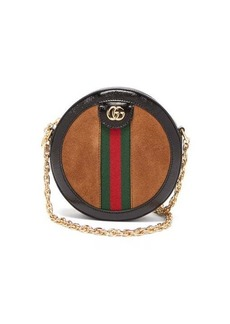 Gucci Ophidia GG leather and suede cross-body bag