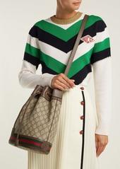 e5c7ef05a64 ... Gucci Ophidia GG Supreme leather bucket bag ...