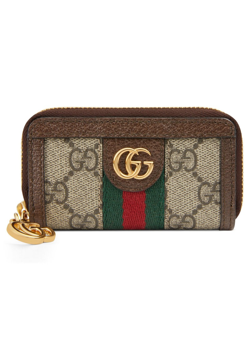 Gucci Ophidia GG Supreme Zip-Around Key Case