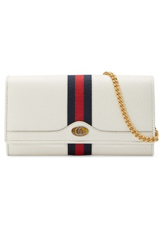 Gucci Ophidia Leather Continental Wallet on a Chain