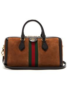 Gucci Ophidia medium top-handle suede bag