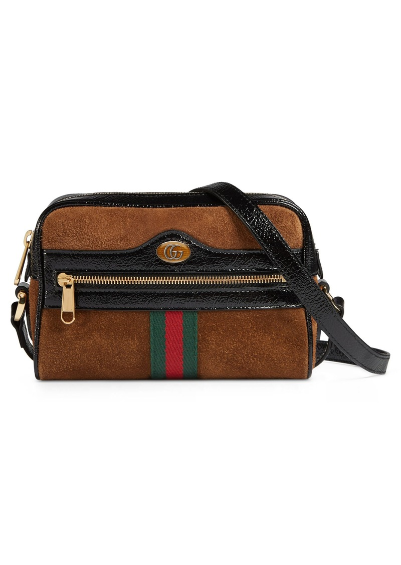 6afc975932e Gucci Gucci Ophidia Small Suede   Leather Crossbody Bag