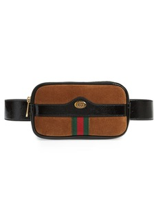 Gucci Ophidia Suede & Leather Belt Bag
