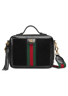 Gucci Ophidia Suede & Leather Top Handle Bag