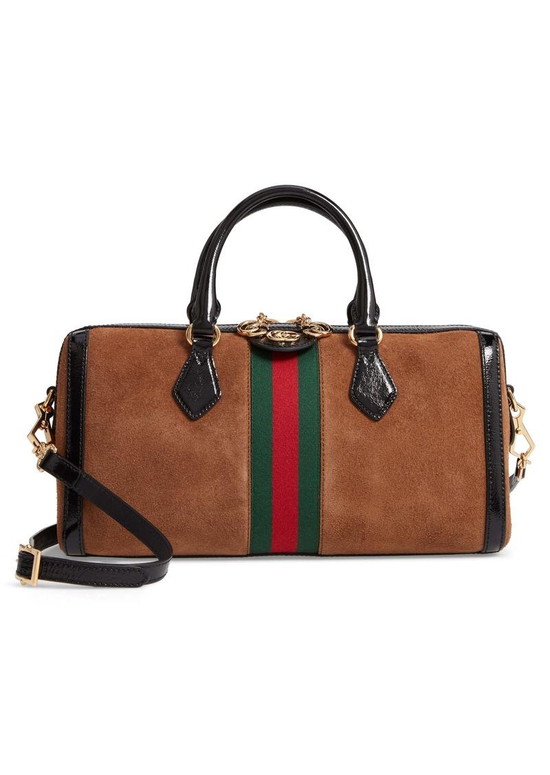 GucciSuede Top Handle Bag