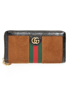 Gucci Ophidia Suede Zip-Around Wallet