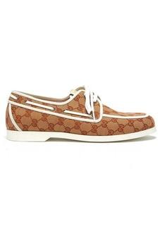 Gucci Original GG canvas boat shoes