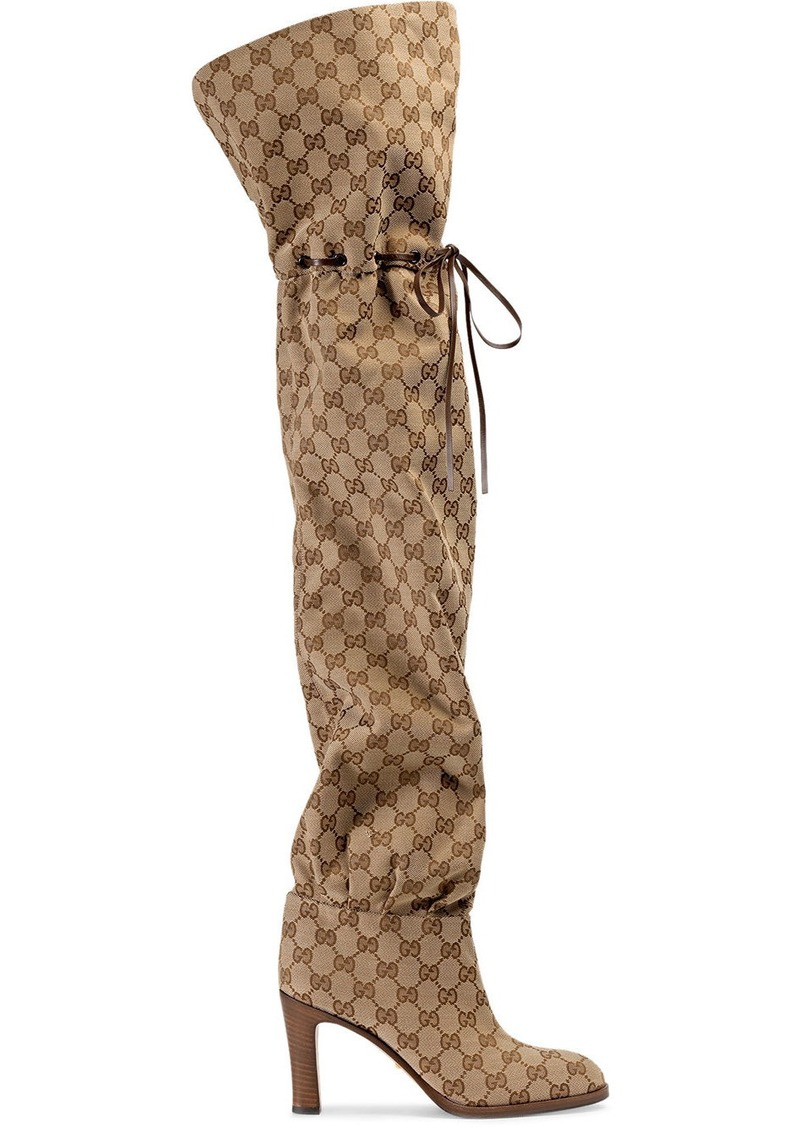 Gucci Original GG 85mm canvas over-the-knee boots