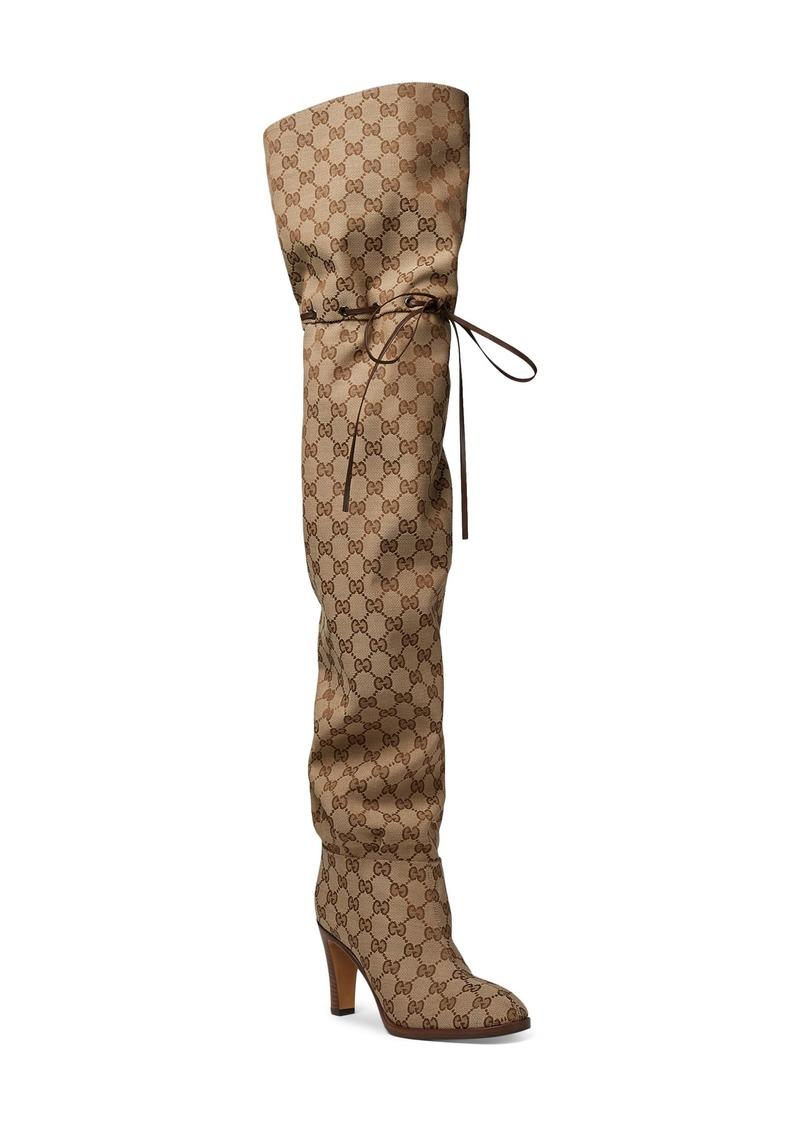cefde14eb4f3 Gucci Gucci Original GG Canvas Over the Knee Boot (Women)